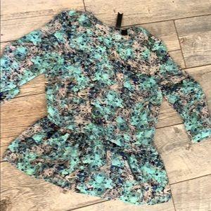 Petticoat alley peplum top